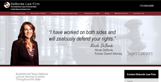 Attorney Houston Responsive Web Design Portfolios